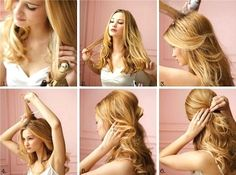 How to hair style. Half up/half down