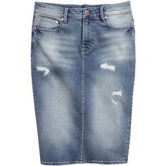 Designer Clothes, Shoes & Bags for Women High Skirts, Plus Size Skirts, Jean Skirts, Denim Skirts, Denim And Lace, Blue Denim, Denim Skirt Outfits, Christian Clothing, Modest Outfits