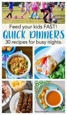 30 quick dinner ideas for your busiest Soccer Nights 30 quick dinner ideas: These great easy busy night dinner recipes for families on soccer night will help you skip the drive-thru and feed your kids fast. Healthy Recipe Videos, Healthy Foods To Eat, Healthy Dinner Recipes, Healthy Snacks, Healthy Eating, Healthy Smoothies, Chips Ahoy, 21 Day Fix, Sin Gluten