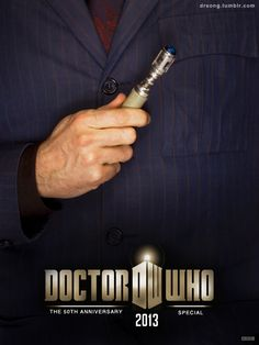 50th Anniversary Poster... WAIT. WAIT. DOES THIS MEAN THAT DAVID IS RETURNING!? Oh please, Moffatt.. Be kind to me.