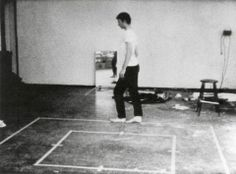 Bruce Nauman 'Walking in an Exaggerated Manner Around the Perimeter of a Square'