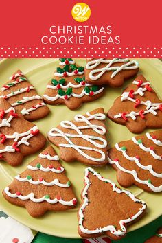 Check our hundreds of our Christmas and Holiday cookie recipes and decorating ideas to brighten your holiday season! Look over hundreds of ideas and find find the cutest and most festive ideas for your holiday celebrations! Christmas Biscuits, Christmas Sugar Cookies, Christmas Sweets, Holiday Cookies, Gingerbread Cookies, Holiday Cookie Recipes, Holiday Desserts, Holiday Baking, Christmas Baking