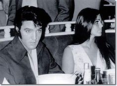 July 25, 1969: Elvis & Priscilla attended Barbra Streisand's show at the new International Hotel. @EPNashvilleFans