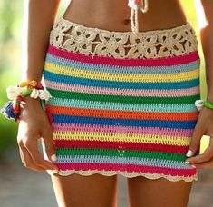 A personal favorite from my Etsy shop https://www.etsy.com/listing/504855128/crochet-striped-skirt-beach-skirt