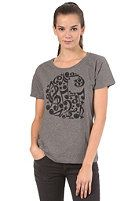 CARHARTT Womens Notes S/S T-Shirt dark grey heather/black #planetsports
