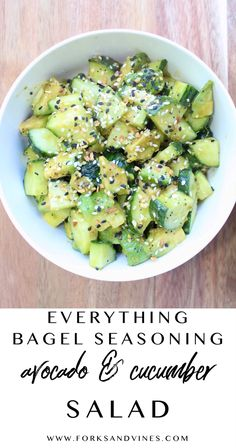 Salad Recipes, Diet Recipes, Cooking Recipes, Healthy Recipes, Healthy Snacks, Healthy Eating, Tasty, Yummy Food, Everything Bagel