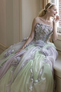 Lavender and mint green dress