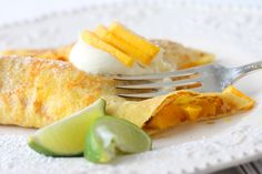 Mango lime crepes
