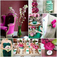 Emerald & Fuschia Wedding