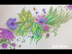 MAGICAL JUNGLE Johanna Basford - coloring with faber castell watercolor pencils - part 3 - YouTube