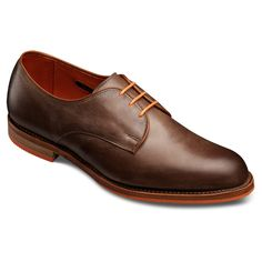 Special Edition WebGems - Brown Leather with Orange Lining Hollywood - Plain-toe Lace-up Oxford Mens Dress Shoes by Allen Edmonds