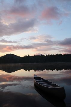 Beautiful sunset! Looking forward to me and my canoe & kayak this summer... will be part of my daily workout..;-)