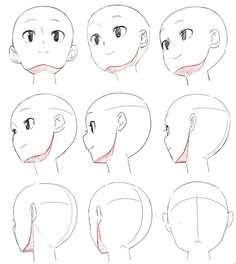 Different head view reference Drawing Skills, Drawing Lessons, Drawing Techniques, Drawing Sketches, Drawings, Drawing Tips, Human Figure Drawing, Figure Drawing Reference, Art Reference Poses