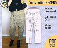 Resultado de imagen de how to make thai fisherman pants pattern Easy Style, Style Cool, Thai Fisherman Pants, Wrap Pants, Diy Wardrobe, Trouser Pants, Plaid Pants, Pants Pattern, Plus Size