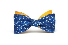Blue and yellow Mens Bow Tie, Wedding Bow Tie | Home | Boom Bow ties