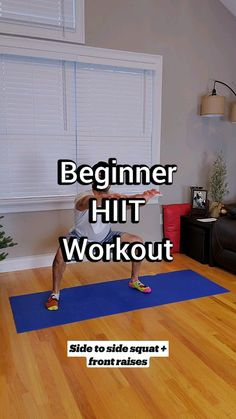 Hiit Workout Plan, Gym Workout Tips, Fitness Workout For Women, At Home Workout Plan, Workout Videos, Fitness Goals, At Home Workouts, Fitness Motivation, Hiit Workouts For Beginners