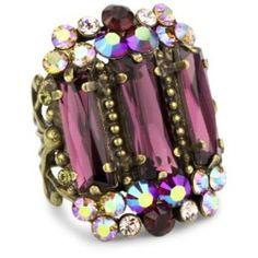 bold crystal ring - $178