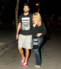 Shakira and boyfriend Gerard Pique on September 19, 2012.    ...So Shakira's beautiful soccor player is smoking hot. Lets move to Spain!