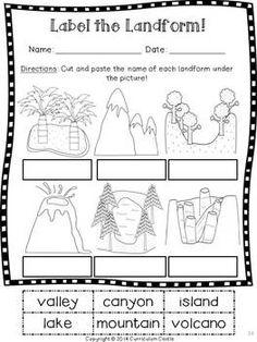 Landforms Quiz | landforms | 5th grade math, Third grade, Grade 1