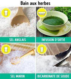 J'essaie aujourd'hui même ! Foot Soak, Hui, Bath Recipes, Foot Baths, Feet Care, Sodium Bicarbonate, Parts Of The Body, Foot Soak Recipe, Baking Soda