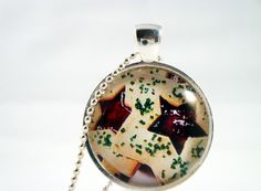 Christmas cookies-glass pendant necklace
