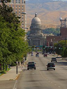 The Idaho State Capitol building in Boise my drive home...the North side of the river :D