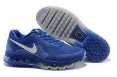 new styles 26524 8ffd3 Mens Nike Air Max 2014 Royal Blue Black Shoes For Wholesale