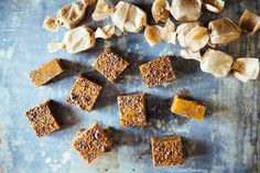 Chewy caramels made with nutty toasted flaxseeds for a sophisticated candy.