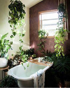 #GreenBathrooms #Bathroom #Paradise #Greenary #hangingplants