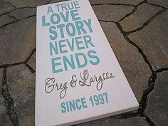 A True Love Story Never Ends customized wooden by dressingroom5, $37.00