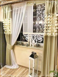 ZASŁONY EUROMINGE AŻUR LASER POLSKIE KOLORY (7145593493) - Allegro.pl - Więcej niż aukcje. Curtains Living, Curtains With Blinds, Panel Curtains, Old Window Decor, Decoration Entree, Curtain Designs, My Furniture, Window Design, Home Decor Kitchen