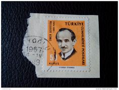 RARE TURKEY 1967 50 KURUS JUBILEE OMEN SAYFETTIN 1844-1920 RECOMMENDET PACKAGE-LETTRE ON PAPER COVER USED SEAL INSTANBUL - 1921-... Republic