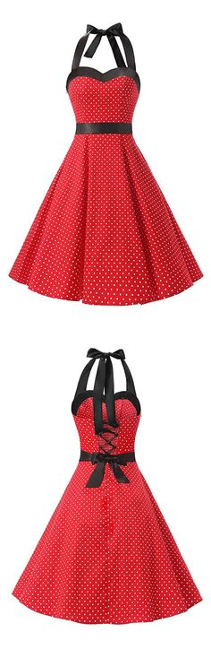 vintage style dresses,rockabilly dress,ruched retro dress,polka dots dress,swing dress