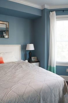 Kitchen paint colors with white cabinets - Benjamin Moore Labrador Blue Same Color Used In The Modern Family