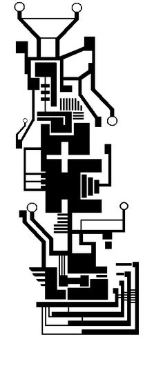 clipart black and white circuit board heart