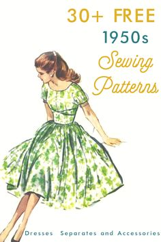 30  Free 1950s Style Sewing Patterns