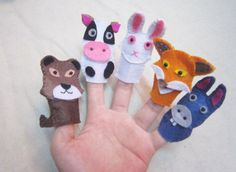 Finger puppets | Felt toy | Set 5 puppets | Toy for children | Kids | Animals | Animal felt finger puppets