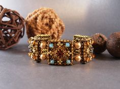 Tutorial for Alhambra Tiles Beadwork Cuff by PeregrineBeader, $10.00