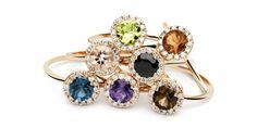 Semi precious stones rings from Amuletto Jewelry Atelier