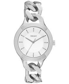DKNY Women's Chambers Stainless Steel Chain Bracelet Watch 36mm NY2216