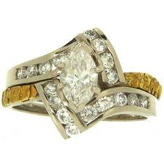 Custom Alaskan Gold Nugget and Diamond Engagement Rings ~ 907-456-4991 ~ Alaskan Gold Rush Fine Jewelry ~ Fairbanks, AK.