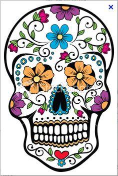 Day of the Dead celebration Sugar Skull.