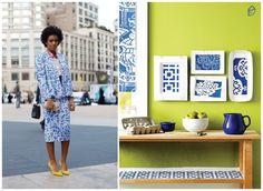 Porcelain print: fashion x decor #fashion #porcelain #decor #casadasamigas