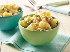 Light and Creamy Mac and Cheese  (use 1/2 or maybe even skip the croutons!)