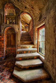 Time for Breakfast Time for Breakfast Fonthill Gallery Stairs to Breakfast Ro karl graf Fl Beautiful Architecture, Beautiful Buildings, Interior Architecture, Beautiful Homes, Beautiful Places, Interior Design, Gothic Interior, Stairs Architecture, Abandoned Houses