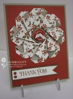 Card by LeeAnn Greff (082212) [folded tag medallion] no Stampin' Up! Large Tag Punch (retired)? see comment 2 for dimensions