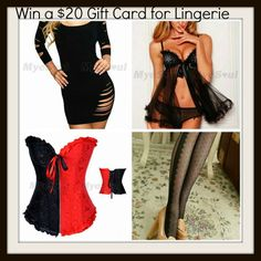 MyStyleSpot: GIVEAWAY: Win a $20 Gift Card to MyeSoul for Some Valentines Day Lingerie  Click to ENTER TO WIN!  #contest #giveaway #sweepstakes #win #lingerie #valentinesday #myesoul #fashion #style #clothing #MyStyleSpot