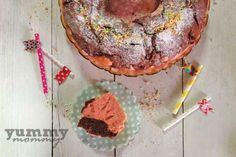 {cake strawberry cacao} Κέικ δίχρωμο ( φράουλα-κακάο) Baby Food Recipes, Breakfast, 12 Months, Babies, Recipes For Baby Food, Morning Coffee, Babys, Baby, Infants