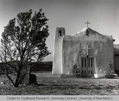 Church in the ghost town of Golden New Mexico. Photo by Karl Kernberger, 1960.