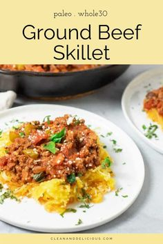 This easy ground beef skillet is a flexible, family-friendly meal that comes together in just 30-minutes. Perfect for a busy weeknight or to add to your weekend meal prep menu. Healthy Spring Recipes, Healthy Gluten Free Recipes, Healthy Dinner Recipes, Delicious Recipes, Meal Prep Menu, Weekend Meal Prep, Healthy Ground Beef, Ground Beef Recipes, Clean And Delicious
